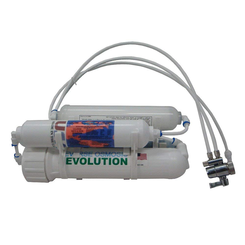 4-stage Basic Reverse Osmosis Revolution Water Purification System, 75/100/150 GPD membrane