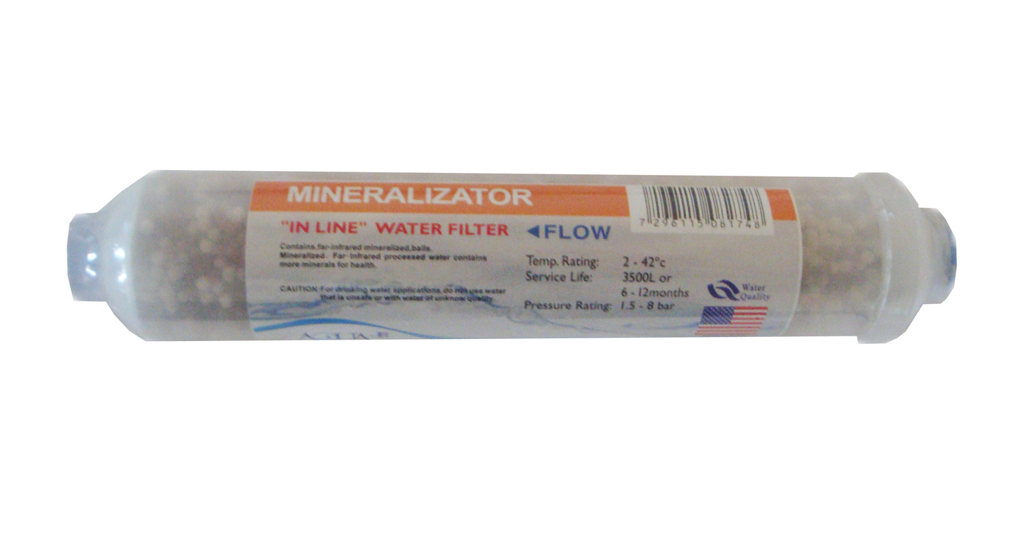 "Inline 58 Minerals 10""x2"" filter for water re-mineralization"