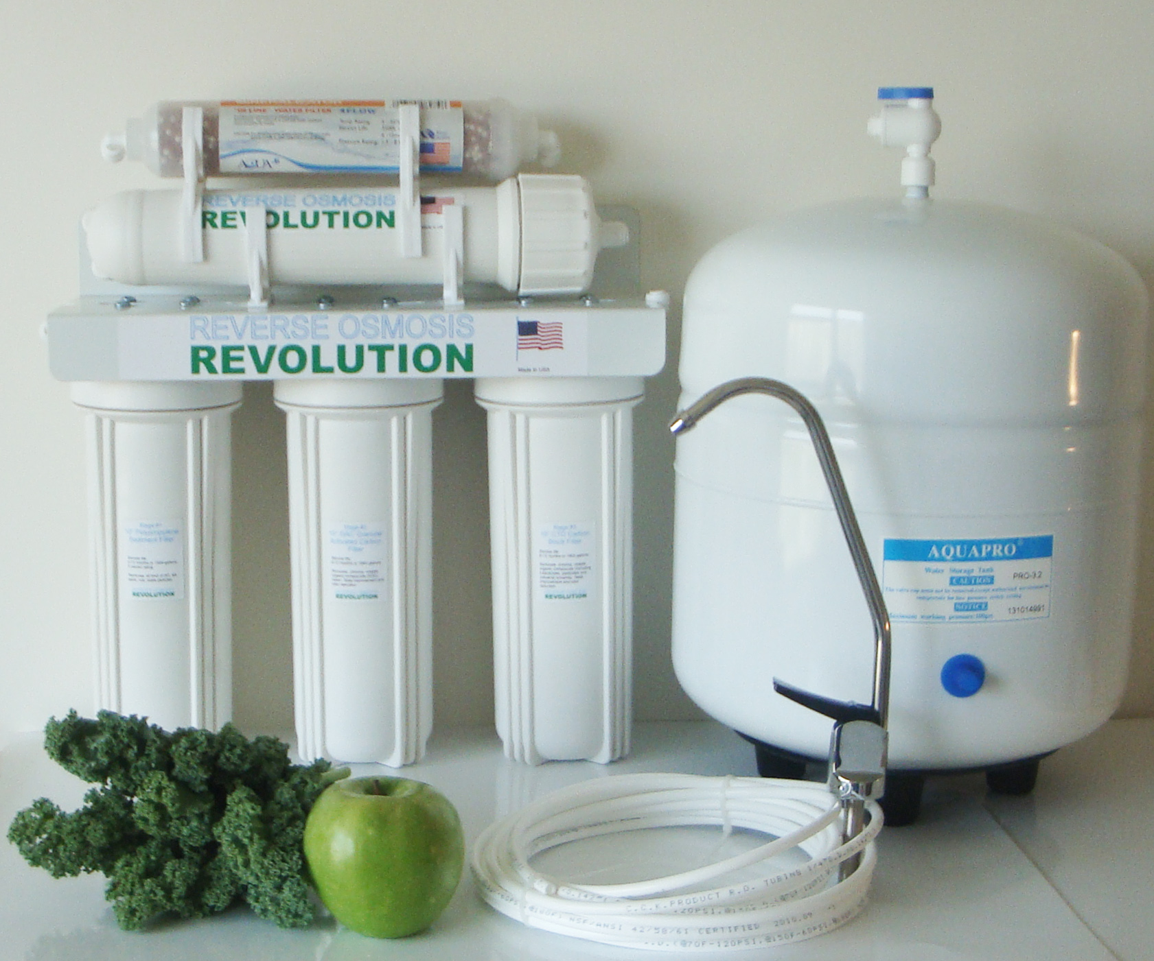 HomeEco Re-Mineralization 5 Stage Reverse Osmosis Complete Water Purification System, 50/75/100 GPD membrane