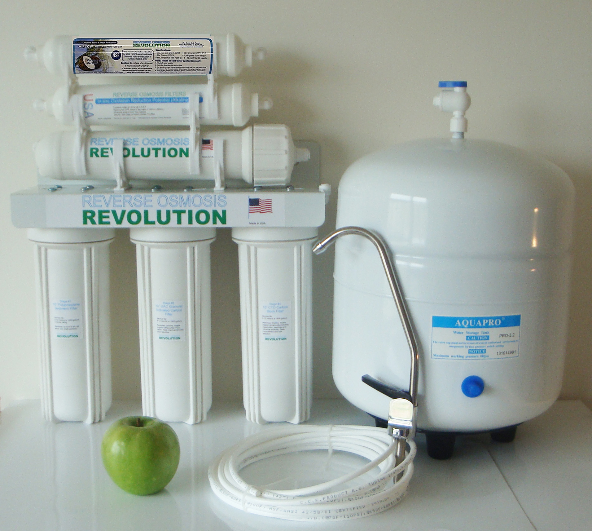 HealthMaximum Alkaline 6 Stage Reverse Osmosis Water Purification System (increase ph up to 8.5-9.5), 50/75/100 GPD membrane