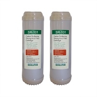 "Set of 2: SR101 10""x2.5"" Cation Resin Softener Water Filter for External Dishwasher Softeners"
