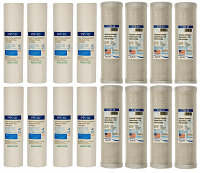 8 replacement filter sets for Dual Stage Reverse Osmosis Revolution Whole House System (2 year supply) (CLONE)