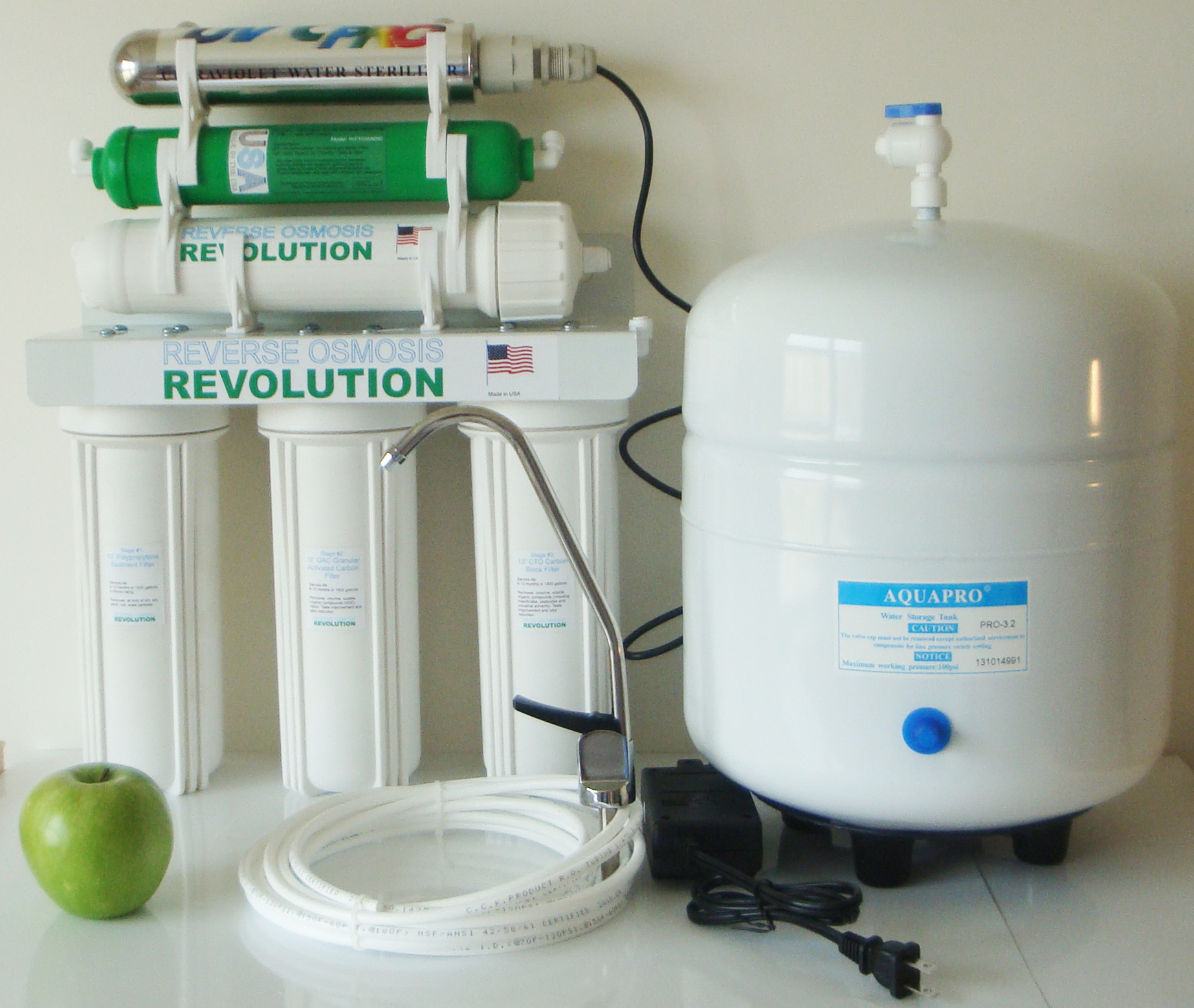 Ultraviolet UV 6 stage Reverse Osmosis Water Purification System