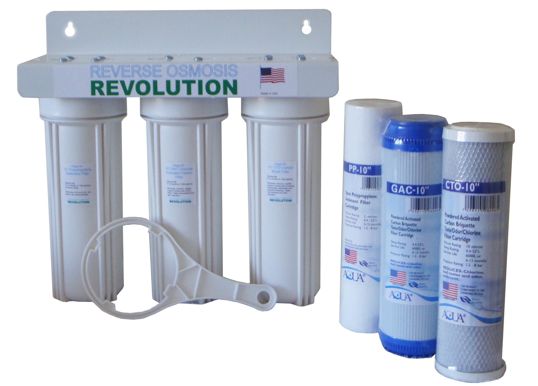 In Home Water Filtration Dual 3 4 Port Whole House Water Purification Filter With 1 Year