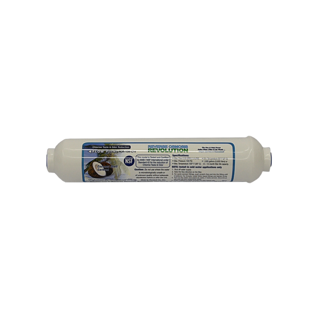 """In-Line GAC Carbon T33 Post Filter 2""""x10"""""""