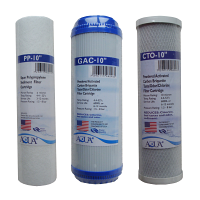 Universal Reverse Osmosis RO Replacement Set of 3 filters: Sediment, GAC and CTO for undercountertop RO