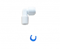 "Universal elbow quick fitting / connectors for Reverse Osmosis RO Systems, 1/4"" tubing  x 1/4"" thread"